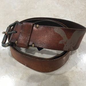 American Eagle Genuine Leather Belt Brown Size 38